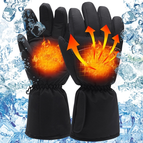 QILOVE 3.7V Heated Gloves Electric Rechargeable Battery Warm Thermal for Man Woman Hunting Heated Mittens Battery Operated Winter Hand Warmers L