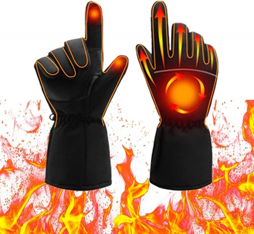 Heated Gloves, Electric Heat Gloves for Women and Men, Battery Powered Waterproof Winter Thermal Gloves